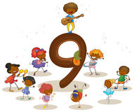 Number 9 Stock Images