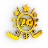 70 number illustration. Royalty Free Stock Photos