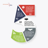 Number 5 infographic template Stock Photos