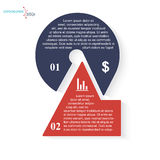 Number 2 infographic template Stock Photography