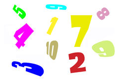 Number jumble stock photography