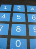 Number keyboard. Keyboard with blue number keys Royalty Free Stock Photography