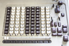 Number keyboard Royalty Free Stock Image