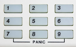 Number keypad with Panic Stock Photography