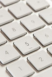 Number Keypad on a White and Grey Computer Keyboard Stock Photos