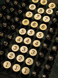 Number keys Royalty Free Stock Photos