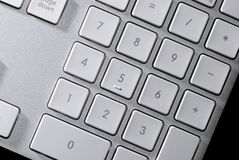 Number keys on the Keyboard Royalty Free Stock Images