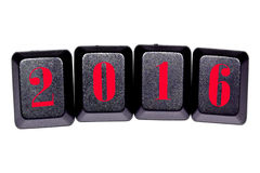 The number 2016 on the keys of the keyboard Stock Image