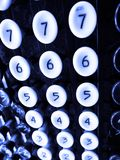 Number Keys on Old Adding Machine Royalty Free Stock Images