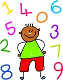 Number kid Stock Images