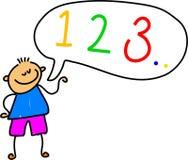 Number kid Royalty Free Stock Image