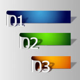 Number labal. Number label for web design Royalty Free Stock Photos
