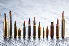 Number of large-caliber ammunition Royalty Free Stock Image