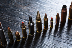 Number of large-caliber ammunition Stock Photos