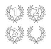 Number laurel. Illustrator desain .eps 10 Stock Photography