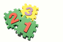 Number learning blocks Royalty Free Stock Image