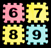 Number learning blocks isolated black Stock Photography