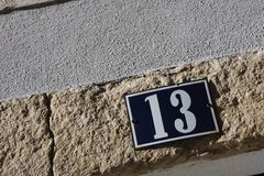 Number 13 Stock Image