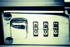 Number Lock. Close-up of a Number Lock Stock Photography
