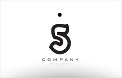 5 number logo icon template design Royalty Free Stock Images