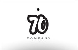 70 number logo icon template design Royalty Free Stock Photos