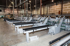 Number of the machines in the factory. Before the new operation Stock Photo