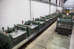 Number of the machines in the factory. In the workflow Royalty Free Stock Photo