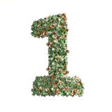 Number 1 made from Euro banknotes Royalty Free Stock Photos