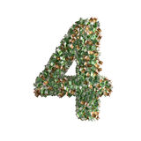 Number 4 made from Euro banknotes Royalty Free Stock Photography