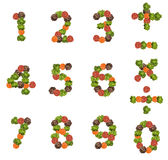 Number made from fresh salad Royalty Free Stock Photography