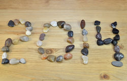 The number 2014 made of stones Stock Images