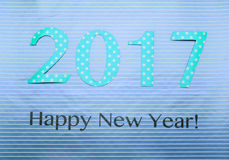 Number 2017 made of wraping paper Royalty Free Stock Photos