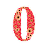 Number 0. From many flower Stock Images