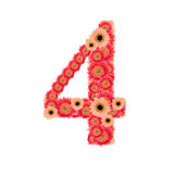 Number 4. From many flower Royalty Free Stock Image