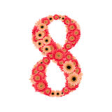 Number 8. From many flower Stock Image