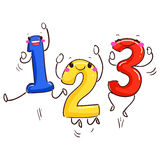 Number Mascot 123 Dancing Royalty Free Stock Images