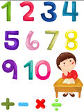 Number mathematics Stock Image