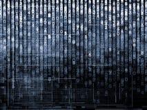 Number Matrix Background Stock Image