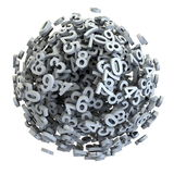 Number mess Royalty Free Stock Image