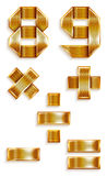 Number metal gold ribbon - 8,9 Stock Photography