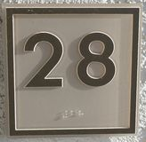 The number 28 royalty free stock photo