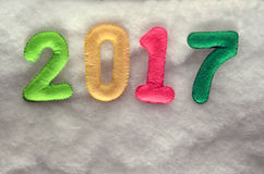 Number 2017 . New Year concept Royalty Free Stock Photo
