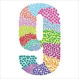 Number nine. Alphabet  graphic illustration design Stock Photo