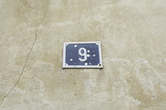 Number nine home Stock Photo
