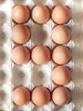 Number nine made of Easter Eggs Royalty Free Stock Photo