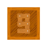 Number nine made from wooden boards. For your design Vector Illustration