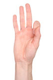 Number nine in sign language Royalty Free Stock Photos