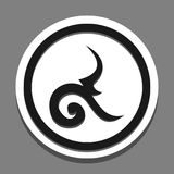 Number nine thai. Icon element sign emblem Stock Photos