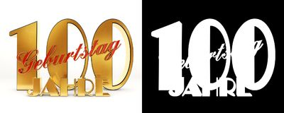 Number ninety one hundred years 100 years celebration design. Anniversary golden number template elements for your birthday party. Translated from the German Stock Photos