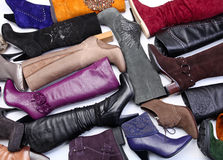 Free Number Of Colored Female Boots Stock Image - 13382921